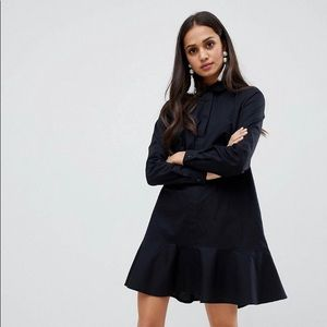 Button up shirt dress with frill bottom!